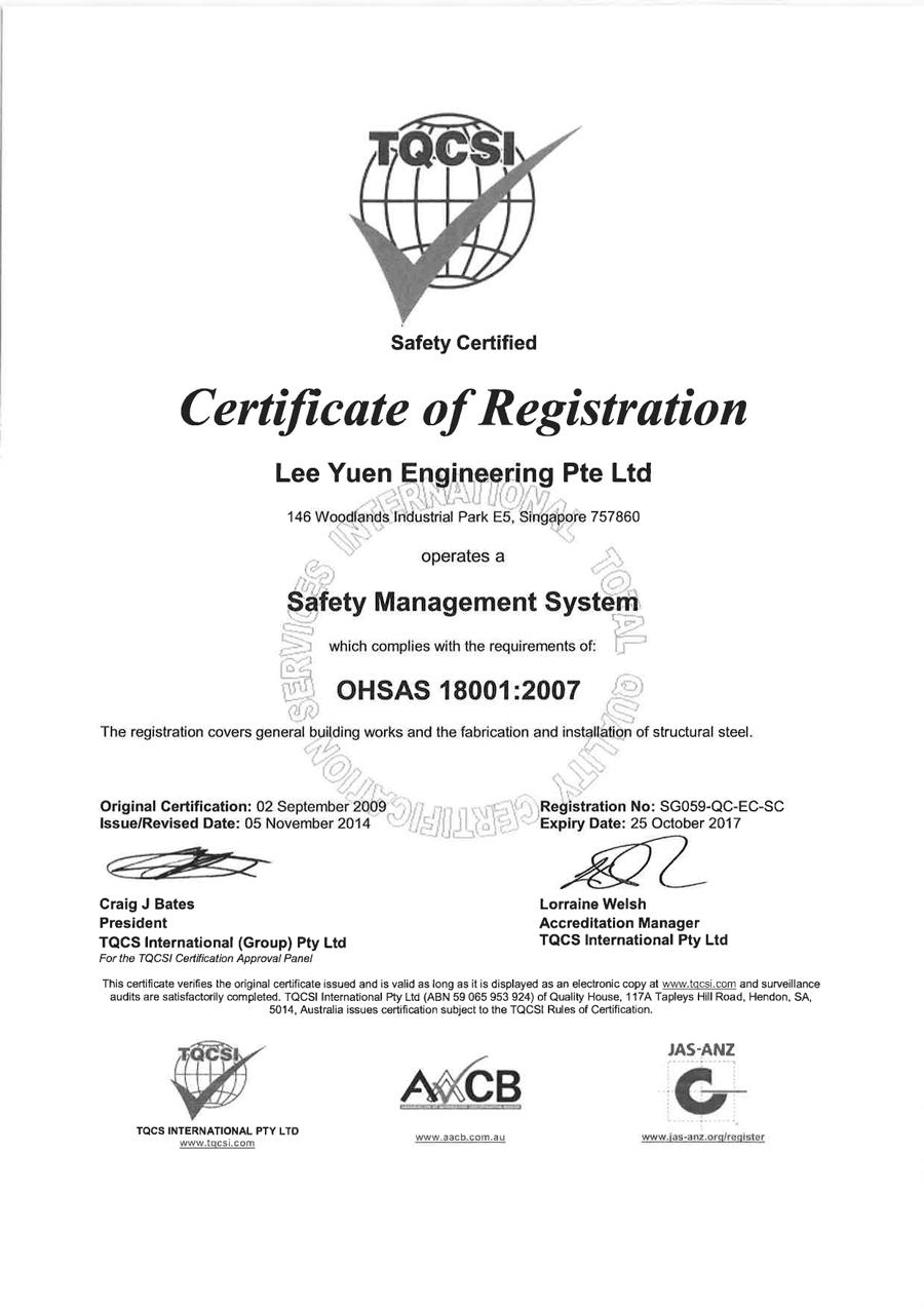 TQCSI Safety Certified
